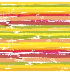 Seamless pattern with color brush stripes vector image