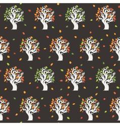 Seamless retro tree pattern vector image