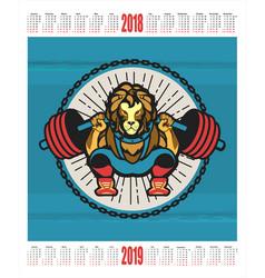 sports calendar 2018 2019 vector image vector image