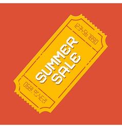 Summer Sale Ticket vector image vector image