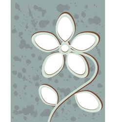 Abstract flower with space for text vector image vector image