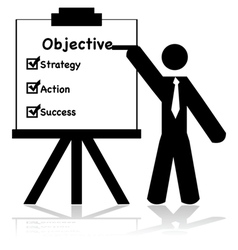 Business objectives vector image