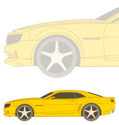 camaro sideview vector image vector image
