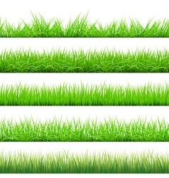 Green Grass Big Set vector image