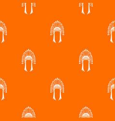 indian headdress pattern seamless vector image vector image