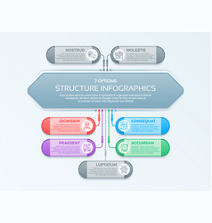 infographics template with 7 structure elements vector image vector image
