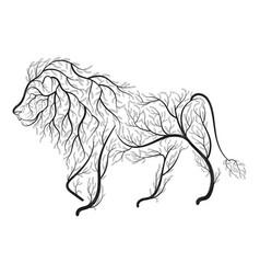 lion bush stylization vector image