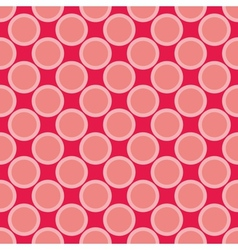Seamless red pattern with big pastel pink dots vector image vector image