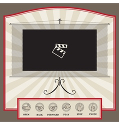 video interface template vector image vector image