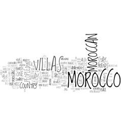 A taste of moroccan way of life inside the villas vector