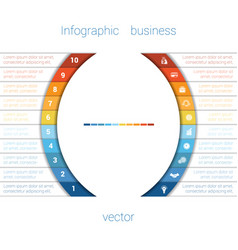 infographic strips and semicircle 10 vector image vector image