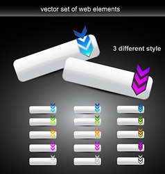 set of different style web buttons vector image vector image