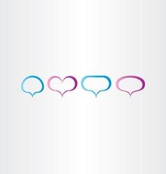 speech bubbles frame set vector image