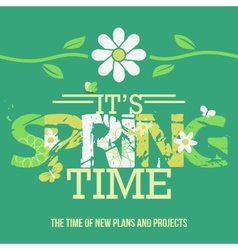 Spring Time typographic poster vector image