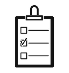 to do list icon simple style vector image