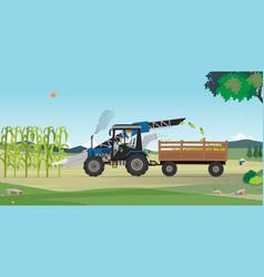 Agricultural harvesting vector