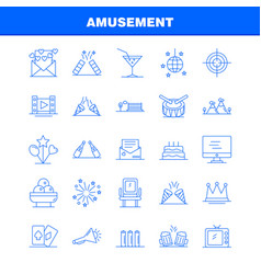 Amusement line icon for web print and mobile uxui vector