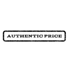 Authentic price watermark stamp vector