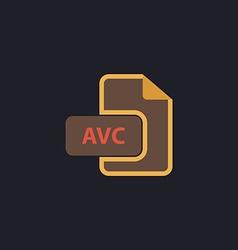 AVC computer symbol vector image