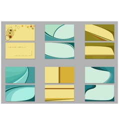 Backgrounds for business cards vector image