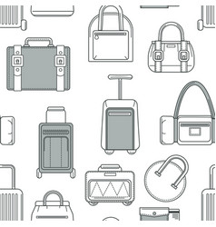 baggage and bags handbags and luggage seamless vector image