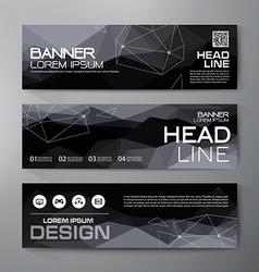 Banners set for business modern design vector image