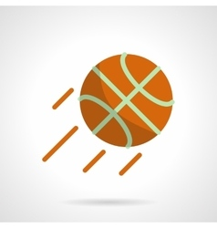 Basketball competition flat color icon vector