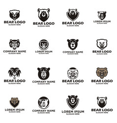 Bear logo design vector