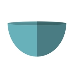 Blue bowl utensil kitchen cooking vector