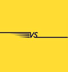 bright poster symbols confrontation vs vector image