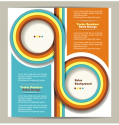 Brochure design retro background vector