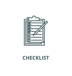 checklistto do list line icon checklist vector image
