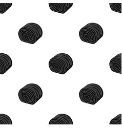 Chocolate roulade icon in black style isolated on vector