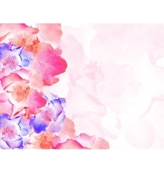 colorful background with flowers EPS10 vector image