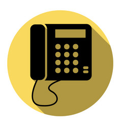 communication or phone sign flat black vector image