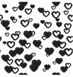 Cute background with hearts vector