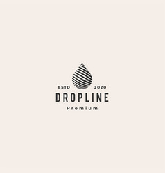 drop line hipster vintage logo icon vector image