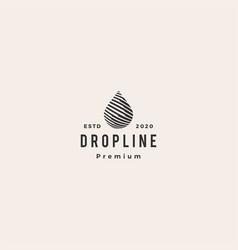 drop line hipster vintage logo icon vector image