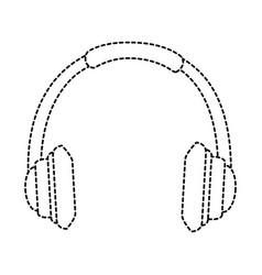 earphones audio isolated icon vector image