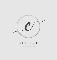 elegant initial letter type e logo vector image