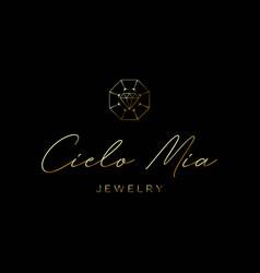 Elegant logo for jewelry company beauty jewelry vector