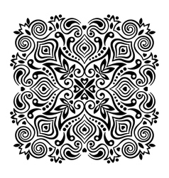 Flower mandala abstract element for design vector