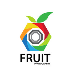 fruit photography logo vector image