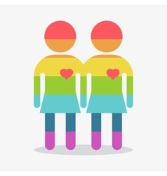 Gay couple girl in love vector