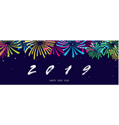 Happy new year background texture with fireworks vector