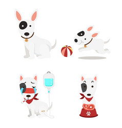 Isolated cute dogs set on white background vector