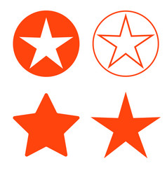 isolated red star icon ranking mark vector image