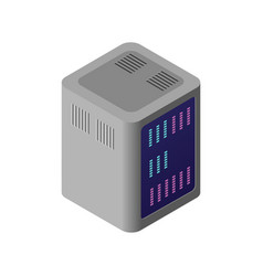 isometric 3d computer vector image