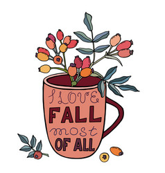 Lettering - i love fall most all vector