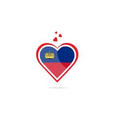 Liechtenstein country flag inside love heart vector